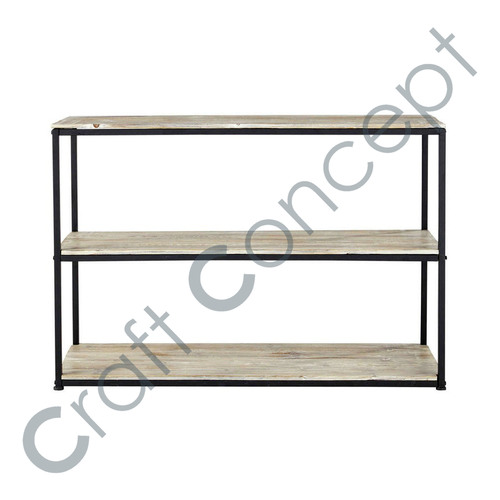 Solid Wood & Metal Console Table