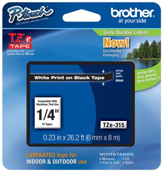 Brother Tze 315    White on Black