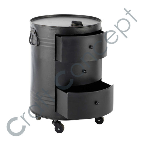 Black Metallic Canister