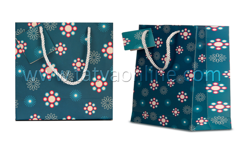 Turquoise Paper Bag