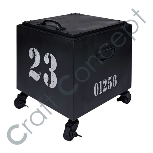 Black Metal Sofa Container With Casters