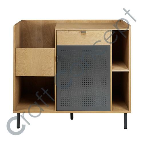 1 Drawer, 1 Door Wooden Cabinet
