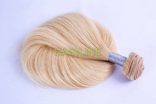 Blond Wefted Hair