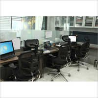 Glass Workstation Partition