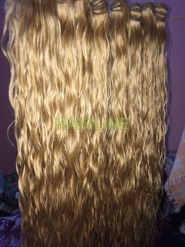 golden blond hair