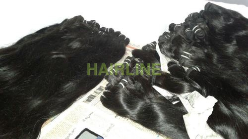 machine wefted remy hair