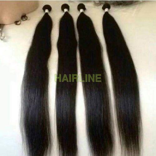 straight machine wefted hair