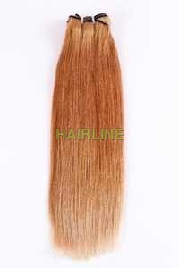straight blond wefted hair