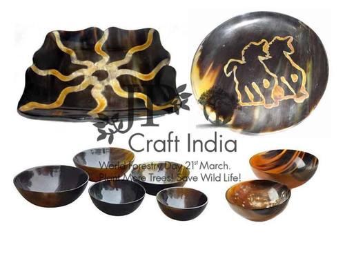 Natural Horn Bowls Plate