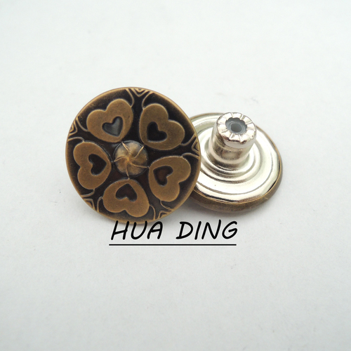 Round Metal button