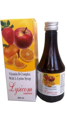Vitamin B Complex and L Lysine Syrup