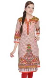 Casual Printed Cotton Kurti