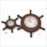 Nautical Wheel Clock