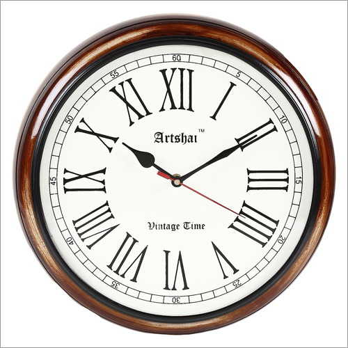 Antique Look Round 12 inch Wall Clock