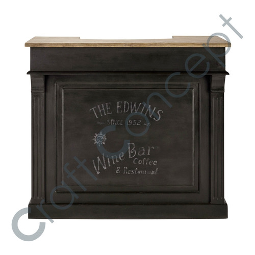 Charcoal Black Wooden Bar