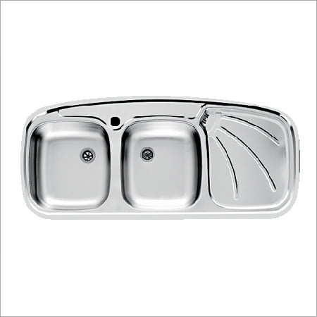 Double Bowl Sink With Drain Board