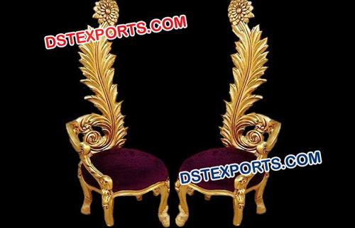 Royal Carved Wedding Chairs