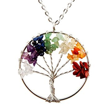 7 Chakra Tree of Life Pendant for Necklace
