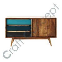 Vintage Blue Mango Wood Buffet