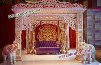 Heavy Carved Fiber Mandap