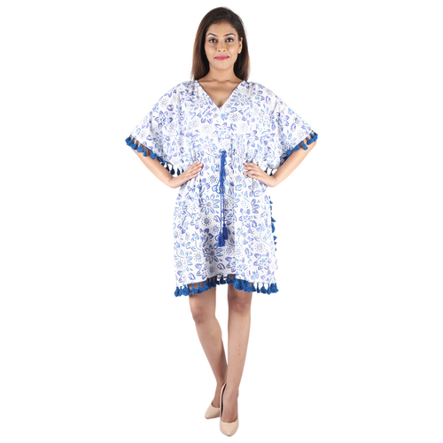 Cotton Hand Block Printed Kaftan Mandala