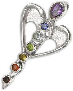 Angel Chakra Pendant in Sterling Silver