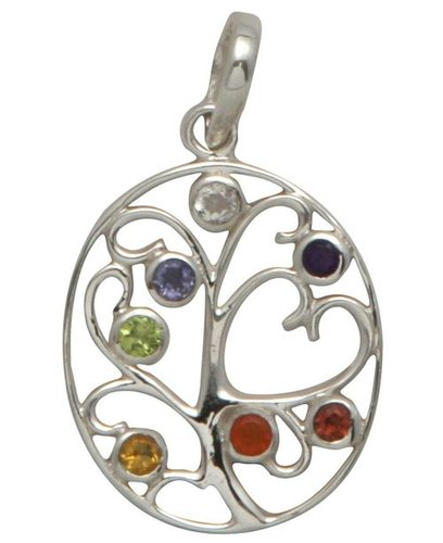 Sterling Silver Tree of Life and Hearts Chakra