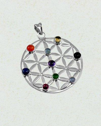 Symphony Chakra Pendant in Sterling Silver