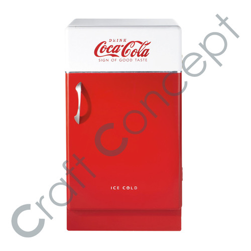 Red & White Cola Cabinet