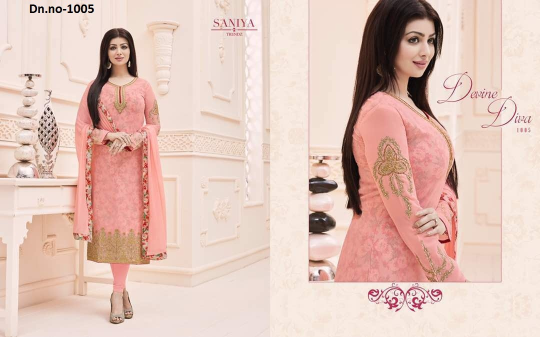 Embroidered Printed Salwar Suit