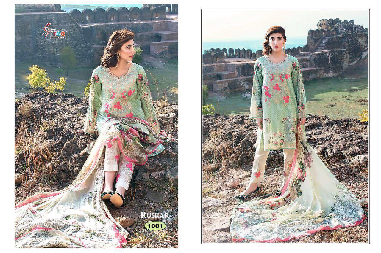 Glace Cotton Salwar Suit