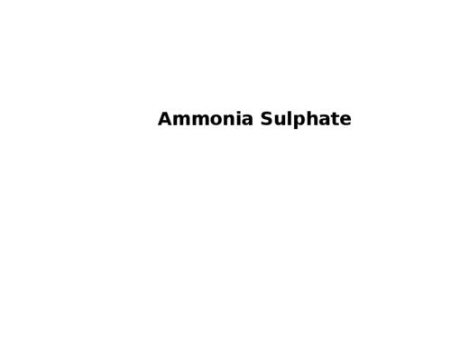 Ammonia Sulphate