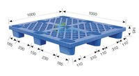 9 Legs Plastic Pallet With Open Upper Deck