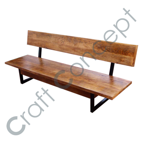 Iron Wooden Bench