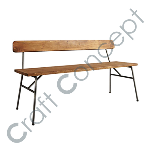 4 Seater Wooden Bench