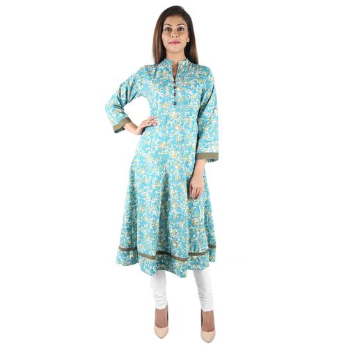 Cotton Hand Block Print Kurti Dress