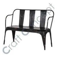 3 Seater Black Iron Bench
