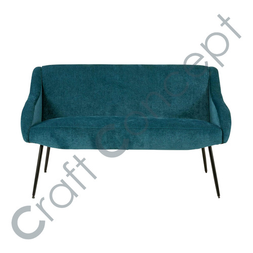 2 Seat Blue & Black Met Bench