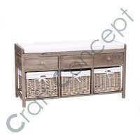 3 Drawer & 3 Block Wooden Bench