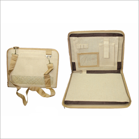 Briefcase Jute File Organizer