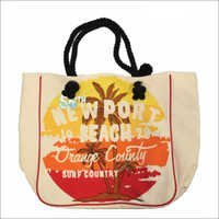 Ladies Jute Printed Bags