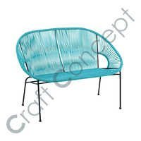 Fine Blue Color Iron Bench