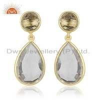 Crystal Quartz Gemstone Earrings Jewelry