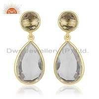 Crystal Quartz Gemstone Earrings Jewelry