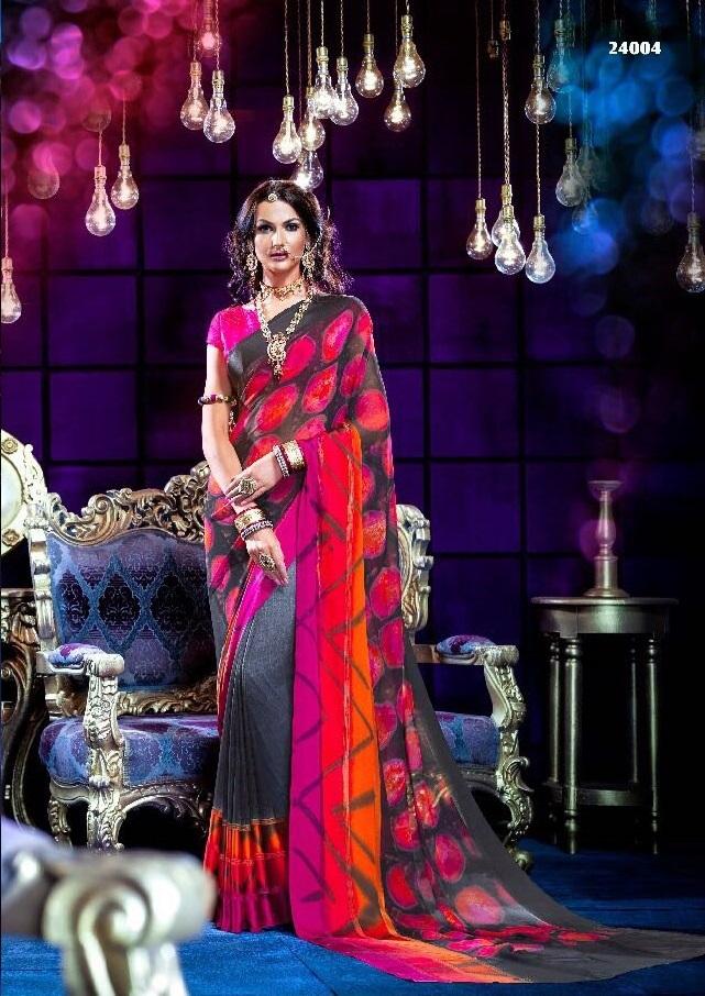 Satin Printed Saree