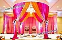 Fiber Carved Wedding Mandap