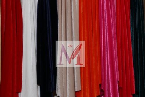 Plain Polyester Velvet Lycra Fabrics