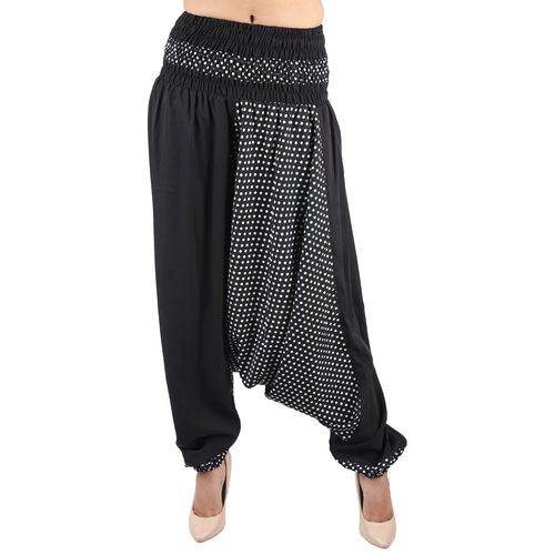 Poly Crepe Party Wear Black Harem Trouser Poly Crepe Afghani Trouser