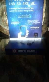 Acrylic HDFC Mobile Charging Station