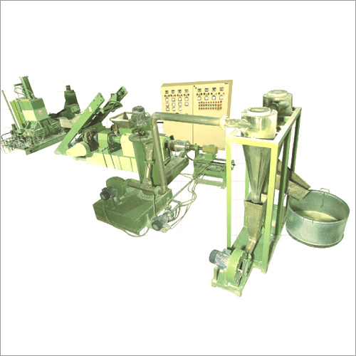 Extruder Line with Air Ring Die Face Cutter